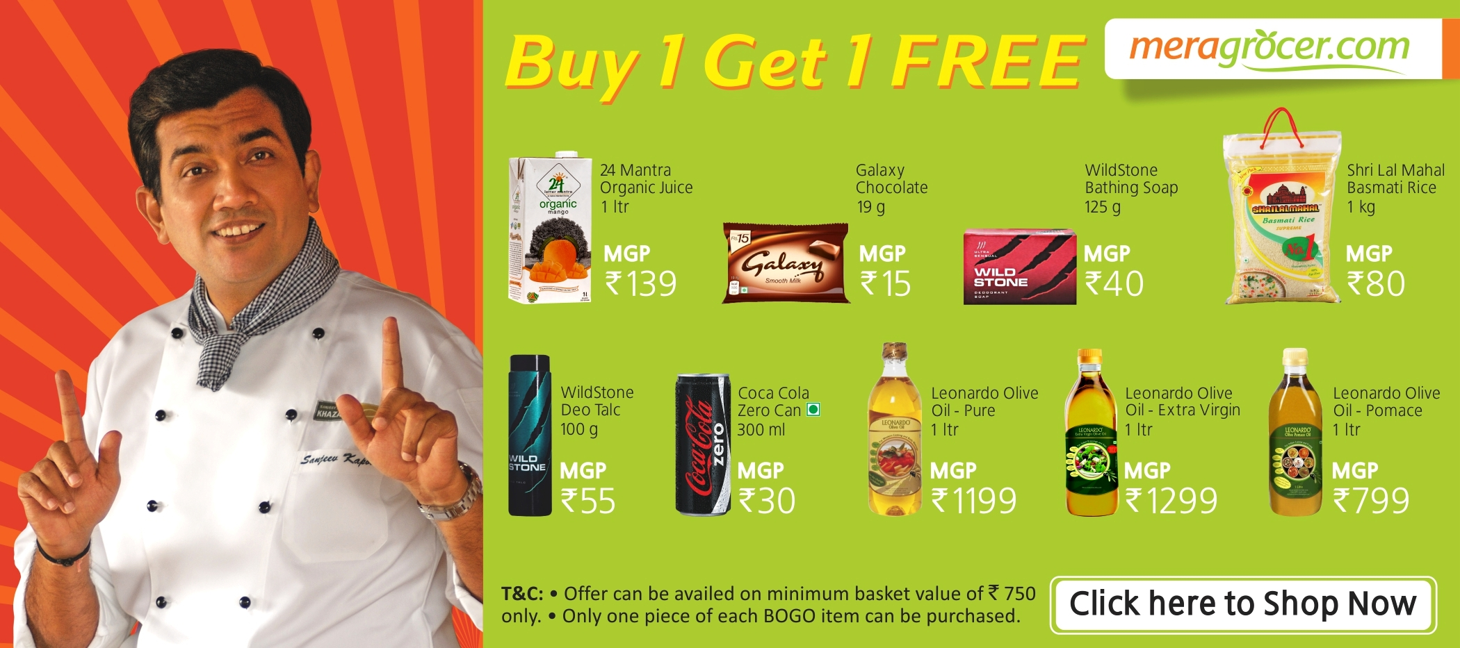 Celebrate Holi with great Discounts on Grocery Shopping from Meragrocer.com